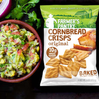 Original Cornbread Crisps with Guacamole