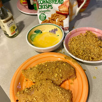 Spicy Cornbread Crisps Breaded Chicken
