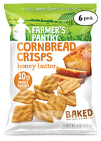 Honey Butter Cornbread Crisps, 6 oz (6 Pack)