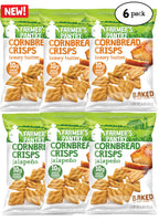 Honey Butter/ Jalapeno Cornbread Crisps Variety Pack, 6 oz (6 Pack)