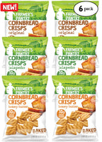 Original/Honey Butter/Jalapeno Cornbread Crisps Variety Pack, 6 oz (6 Pack)