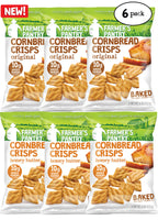 Original/Honey Butter Cornbread Crisps Variety Pack, 6 oz (6 Pack)