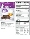 Farmer's Pantry Steak & Fries Jerky Snacks Nutrition