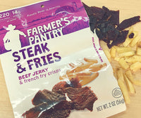 Steak & Fries Jerky Snacks, 2 oz