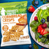 Summer salad with Farmer's Pantry Honey Butter Cornbread Crisps