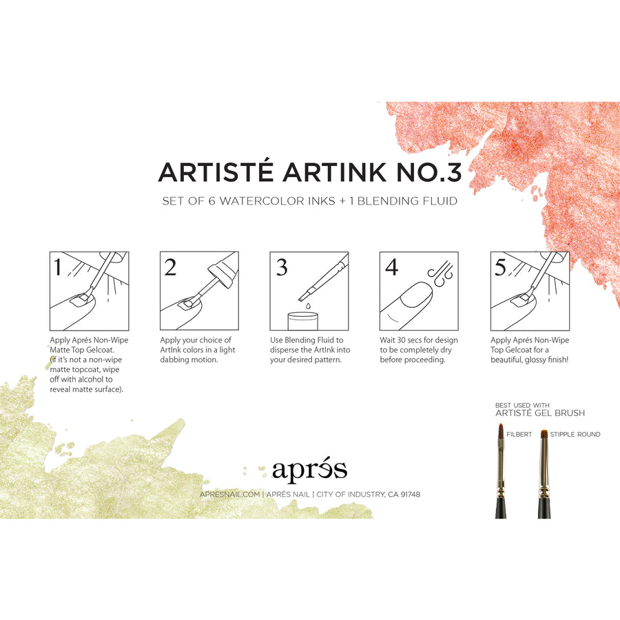 Artisté ArtInk Set No. 3 - Metallic Series