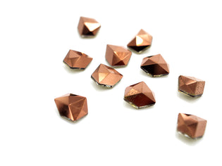 Rose Gold Pointed Back Charms