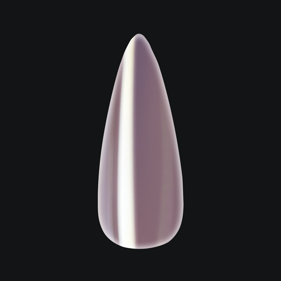 Chrome Gel-X Tips - Pearlescent - Natural Stiletto Medium