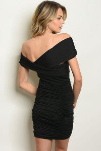 Off - The - Shoulders Black Dress
