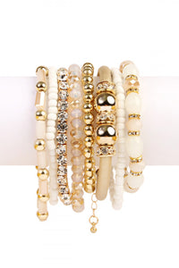 White and Gold Bracelets