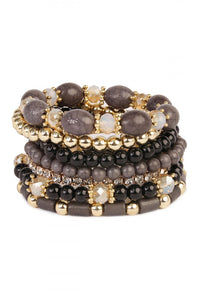Black and Gold Bracelets