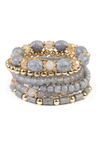 Grey and Gold Bracelets