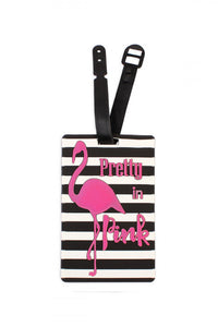 Hot Pink Flamingo Luggage Tag