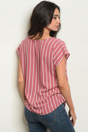 Striped Pink Blouse