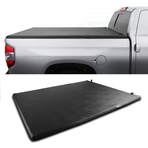 Tri-Fold Soft Tonneau Cover For GMC Sierra 5.8ft Bed 2004 - 2006