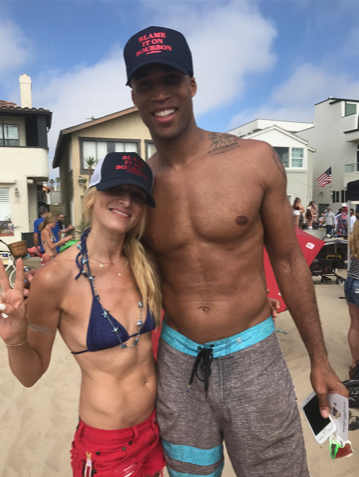 NBA Star Richard Jefferson wearing Blame It On Bourbon