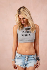 LNG x MD Bourbon Bacon Yoga Reversible Tank - Light Gray