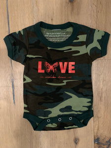 Camo Butterfly Love Onsie