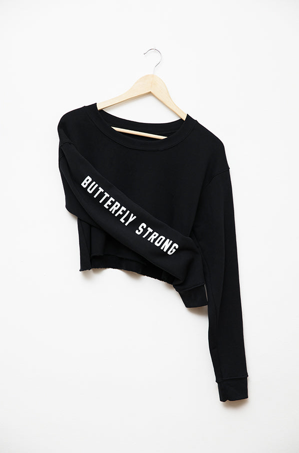 Butterfly Strong Cropped Sweatshirt