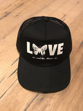 Load image into Gallery viewer, Black Butterfly Love // Trucker Hat