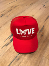 Load image into Gallery viewer, Red Butterfly Love // Trucker Hat