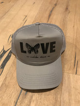 Load image into Gallery viewer, Gray Butterfly Love // Trucker Hat
