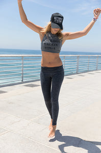 Bourbon Bacon Yoga Cropped Tank