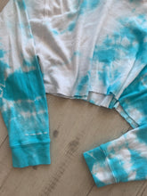 Load image into Gallery viewer, Malibu Dana Tie Dye Hoodie - Blue and White
