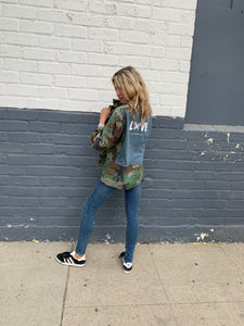 LNG x MD Butterfly Love Camo Jacket - Black and Silver