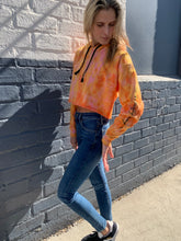 Load image into Gallery viewer, Butterfly Strong Hand Tie Dye Hoodie - Orangesicle