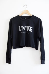 Butterfly LOVE // Cropped Long-Sleeve Tee