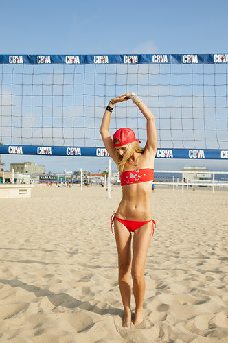 The Allison Red Bandeau Bikini