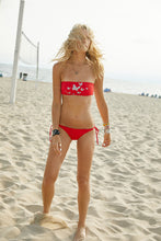 Load image into Gallery viewer, The Allison Red Bandeau Bikini - Top