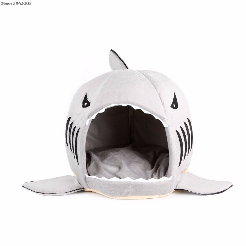 Soft Shark Mouth Cat Bed - Removable and Washable
