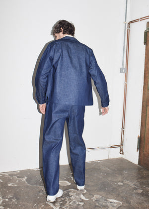 Indigo Dry Long Sleeve Denim Bowling Shirt x RB - King & Tuckfield