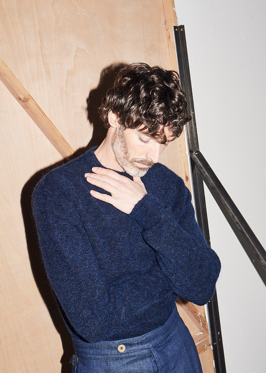 Navy Crew Neck Knit x RB - King & Tuckfield