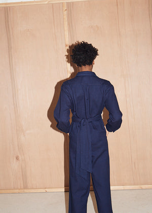Double dyed Indigo Rinse Jumpsuit - King & Tuckfield