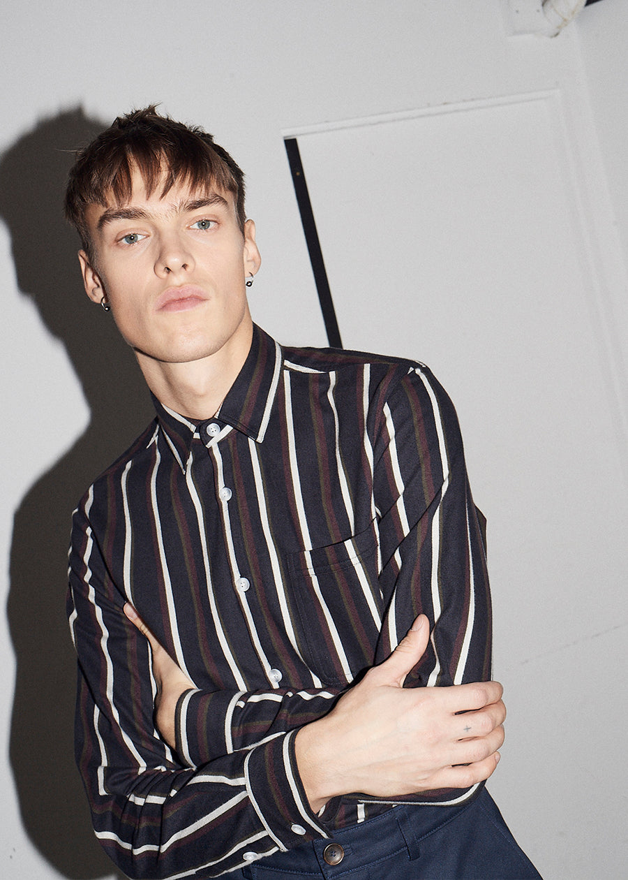 Multi Stripe Cotton Shirt - King & Tuckfield