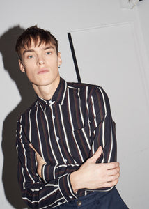 Black Multi Stripe Cotton Shirt - King & Tuckfield