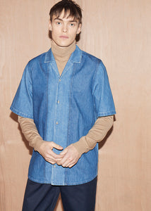 Short Sleeve Denim Bowling Shirt - King & Tuckfield