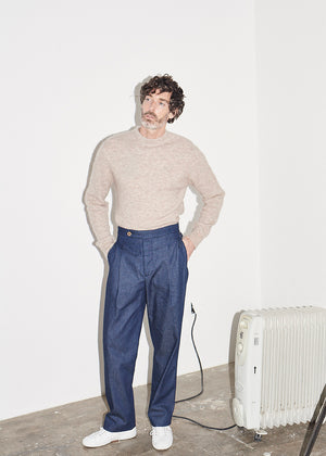 Oatmeal Crew Neck Knit x RB - King & Tuckfield