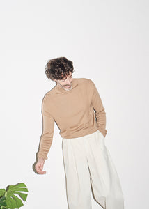 Camel Long Sleeve Polo Neck x RB - King & Tuckfield