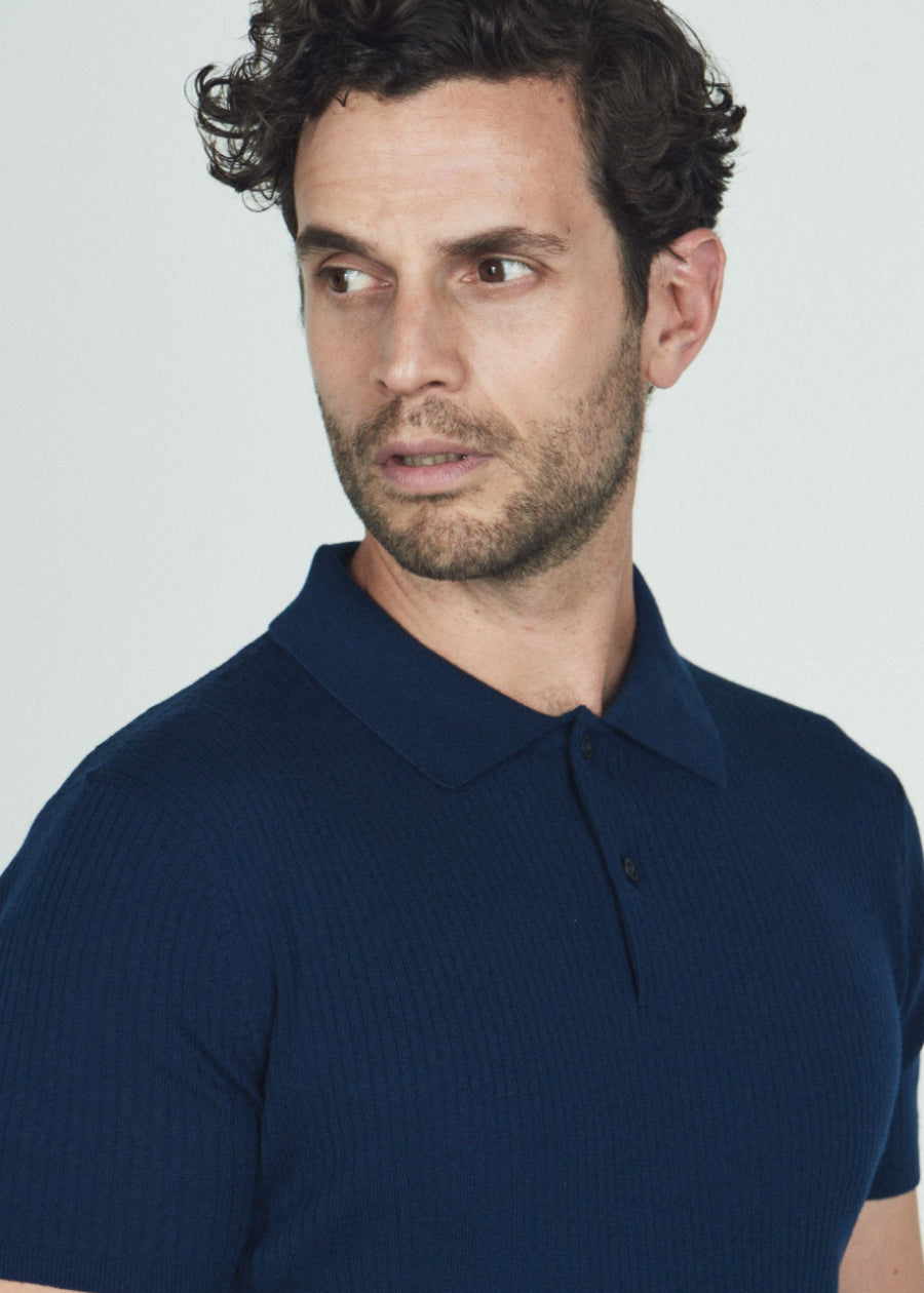 Hand Me Down - First Edition 50's Textured Polo - King & Tuckfield