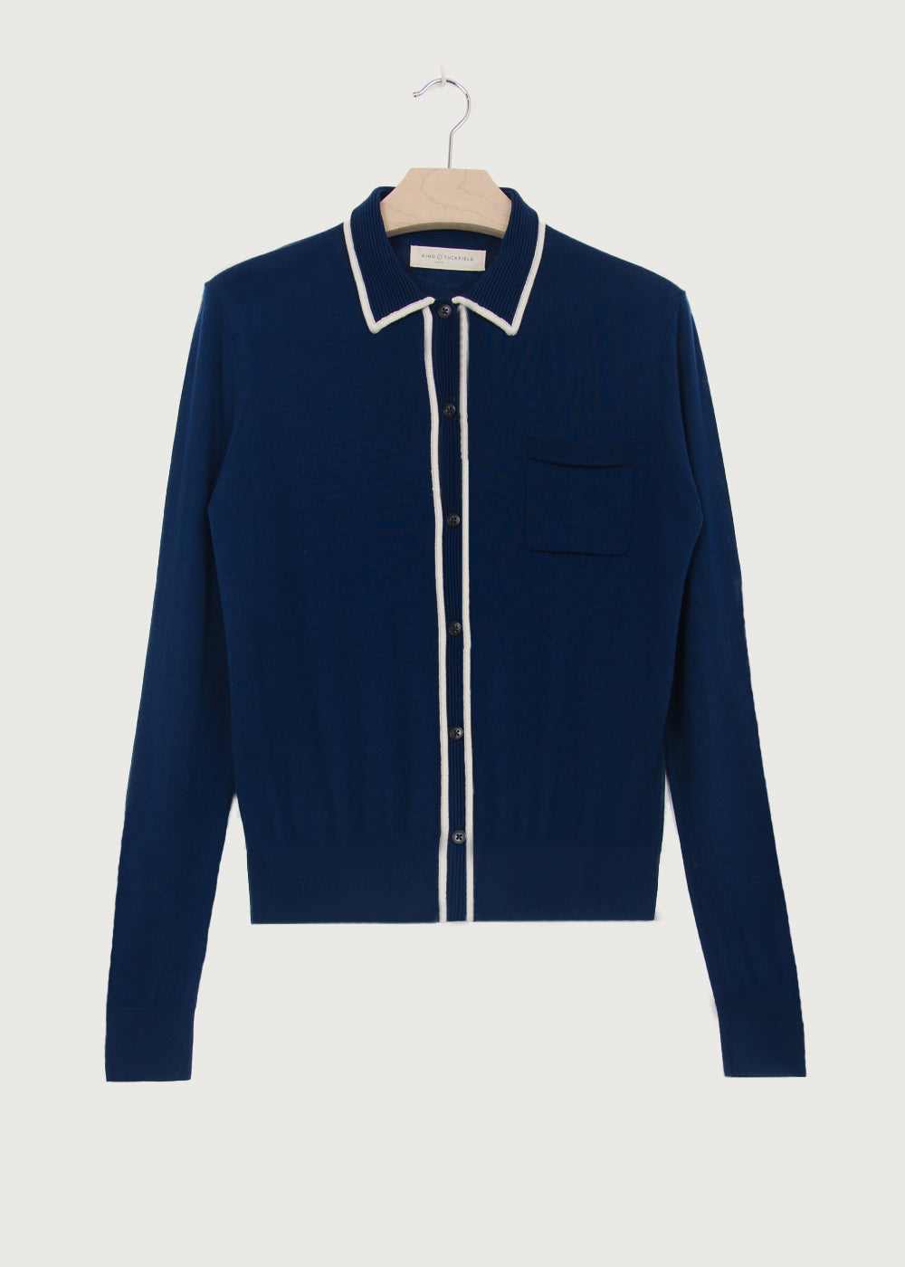 Navy Knitted Shirt - King & Tuckfield