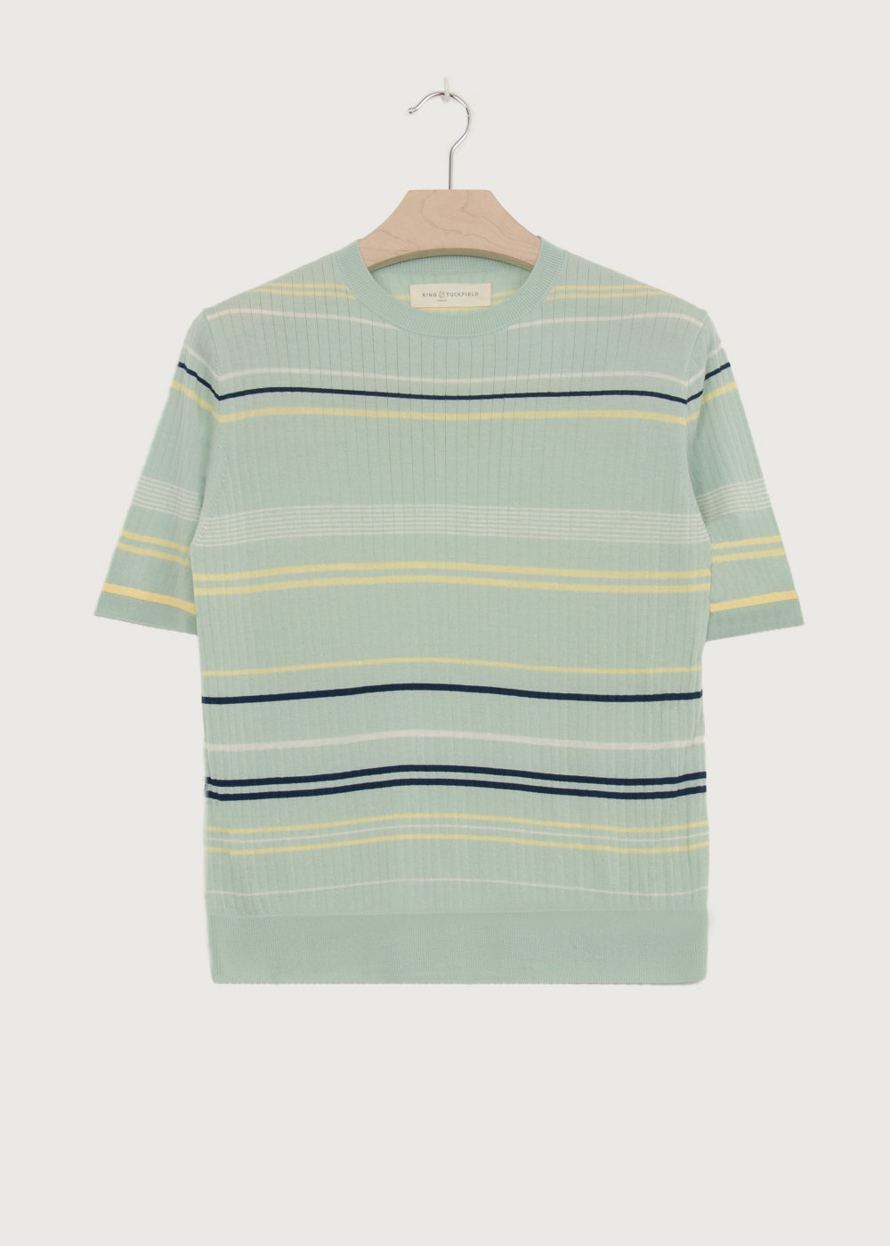 Mint Sorbet Stripe Knitted T-shirt