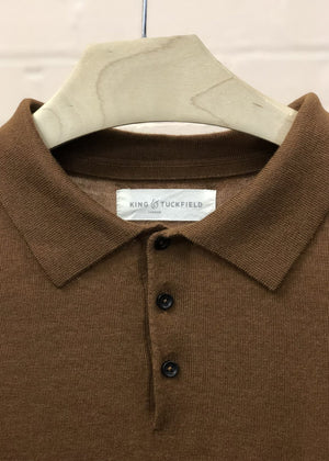 Hand Me Down - Tapenade Short Sleeve Polo Shirt - King & Tuckfield