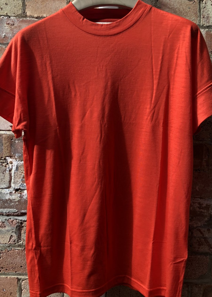 Hand Me Down - Merino Fiesta Red T-shirt - King & Tuckfield