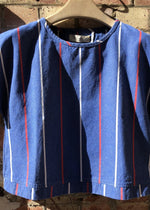 Hand Me Down - Deck Chair Stripe Cross Back Top - King & Tuckfield