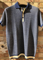 Hand Me Down - Navy Textured Polo - King & Tuckfield