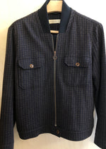 Hand Me Down - Wool Silk bomber jacket - King & Tuckfield